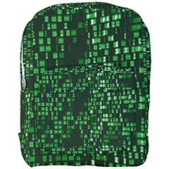 Abstract Plaid Green Full Print Backpack