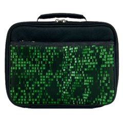 Abstract Plaid Green Lunch Bag