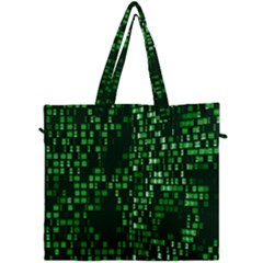 Abstract Plaid Green Canvas Travel Bag