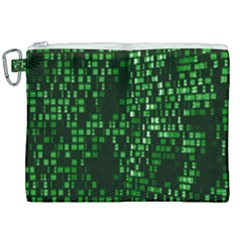 Abstract Plaid Green Canvas Cosmetic Bag (xxl)