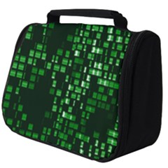 Abstract Plaid Green Full Print Travel Pouch (big)