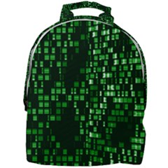 Abstract Plaid Green Mini Full Print Backpack