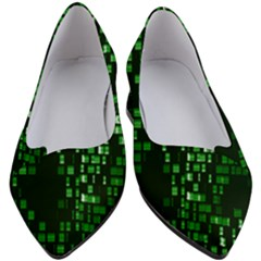 Abstract Plaid Green Women s Block Heels