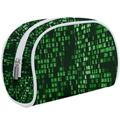 Abstract Plaid Green Makeup Case (large)