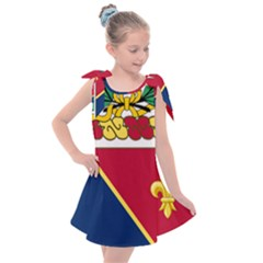Coat Of Arms Of United States Army 133rd Field Artillery Regiment Kids  Tie Up Tunic Dress by abbeyz71