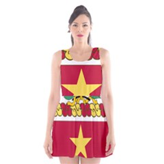 Coat Of Arms Of United States Army 136th Regiment Scoop Neck Skater Dress
