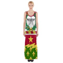 Coat Of Arms Of United States Army 136th Regiment Thigh Split Maxi Dress