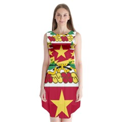 Coat Of Arms Of United States Army 136th Regiment Sleeveless Chiffon Dress