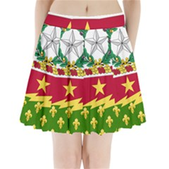 Coat Of Arms Of United States Army 136th Regiment Pleated Mini Skirt