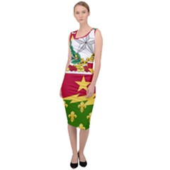 Coat Of Arms Of United States Army 136th Regiment Sleeveless Pencil Dress