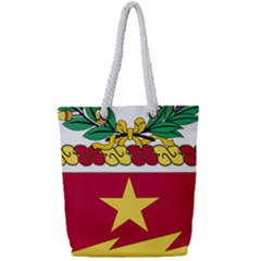 Coat Of Arms Of United States Army 136th Regiment Full Print Rope Handle Tote (small)