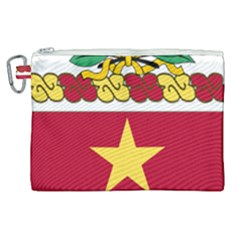 Coat Of Arms Of United States Army 136th Regiment Canvas Cosmetic Bag (xl)