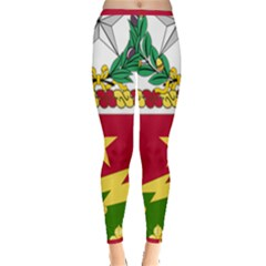 Coat Of Arms Of United States Army 136th Regiment Inside Out Leggings