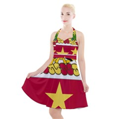 Coat Of Arms Of United States Army 136th Regiment Halter Party Swing Dress