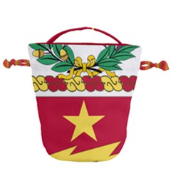 Coat Of Arms Of United States Army 136th Regiment Drawstring Bucket Bag