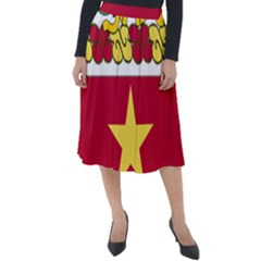 Coat Of Arms Of United States Army 136th Regiment Classic Velour Midi Skirt