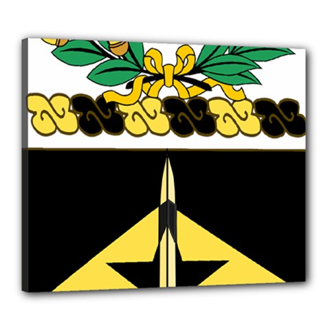 Coat Of Arms Of United States Army 49th Finance Battalion Canvas 24  X 20  (stretched)