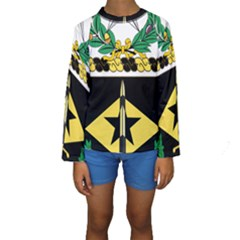 Coat Of Arms Of United States Army 49th Finance Battalion Kids  Long Sleeve Swimwear