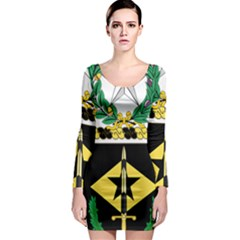 Coat Of Arms Of United States Army 49th Finance Battalion Long Sleeve Bodycon Dress