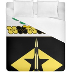 Coat Of Arms Of United States Army 49th Finance Battalion Duvet Cover (california King Size)