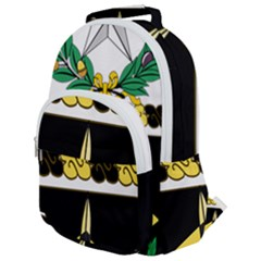 Coat Of Arms Of United States Army 49th Finance Battalion Rounded Multi Pocket Backpack