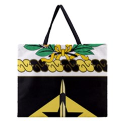 Coat Of Arms Of United States Army 49th Finance Battalion Zipper Large Tote Bag