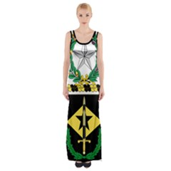 Coat Of Arms Of United States Army 49th Finance Battalion Thigh Split Maxi Dress
