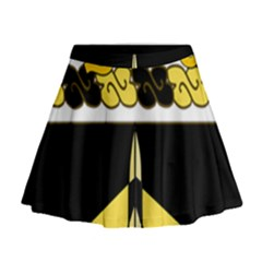 Coat Of Arms Of United States Army 49th Finance Battalion Mini Flare Skirt