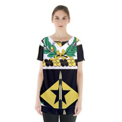Coat Of Arms Of United States Army 49th Finance Battalion Skirt Hem Sports Top