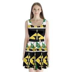 Coat Of Arms Of United States Army 49th Finance Battalion Split Back Mini Dress