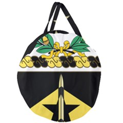 Coat Of Arms Of United States Army 49th Finance Battalion Giant Round Zipper Tote