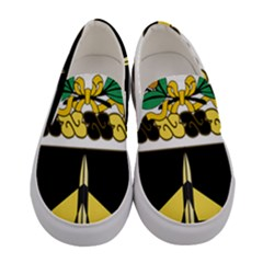 Coat Of Arms Of United States Army 49th Finance Battalion Women s Canvas Slip Ons