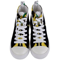 Coat Of Arms Of United States Army 49th Finance Battalion Women s Mid Top Canvas Sneakers