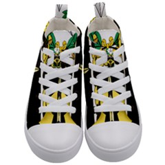 Coat Of Arms Of United States Army 49th Finance Battalion Kids  Mid Top Canvas Sneakers