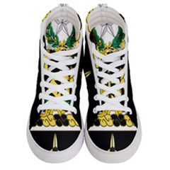 Coat Of Arms Of United States Army 49th Finance Battalion Women s Hi Top Skate Sneakers