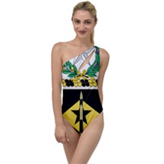 Coat Of Arms Of United States Army 49th Finance Battalion To One Side Swimsuit by abbeyz71