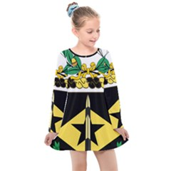 Coat Of Arms Of United States Army 49th Finance Battalion Kids  Long Sleeve Dress