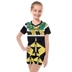 Coat Of Arms Of United States Army 49th Finance Battalion Kids  Mesh Tee And Shorts Set