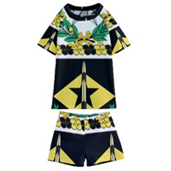 Coat Of Arms Of United States Army 49th Finance Battalion Kids  Swim Tee And Shorts Set