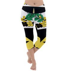 Coat Of Arms Of United States Army 49th Finance Battalion Lightweight Velour Capri Yoga Leggings