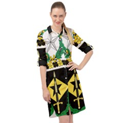 Coat Of Arms Of United States Army 49th Finance Battalion Long Sleeve Mini Shirt Dress