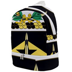 Coat Of Arms Of United States Army 49th Finance Battalion Zip Bottom Backpack