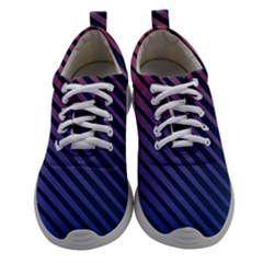 Red And Blue Modern Lines Women Athletic Shoes by goljakoff