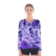 Abstract Space Women s Long Sleeve Tee