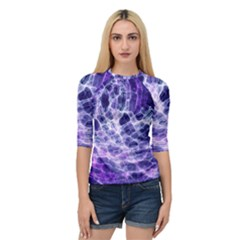 Abstract Space Quarter Sleeve Raglan Tee