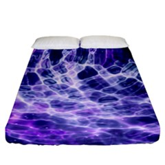 Abstract Space Fitted Sheet (california King Size)