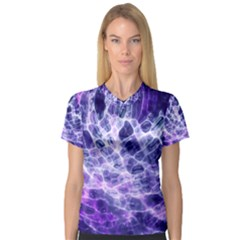 Abstract Space V Neck Sport Mesh Tee