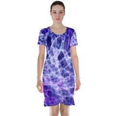 Abstract Space Short Sleeve Nightdress