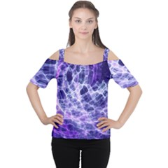 Abstract Space Cutout Shoulder Tee