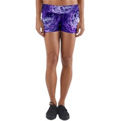 Abstract Space Yoga Shorts